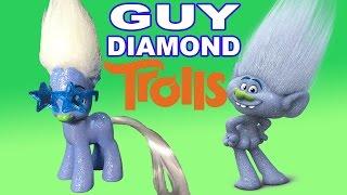getlinkyoutube.com-Custom GUY DIAMOND TROLLS Pony Dreamworks My Little Pony Glitter Tutorial Troll