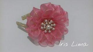 getlinkyoutube.com-Como fazer flor mil faces  /How to make  flower Diy , tutorial , pap By Iris Lima
