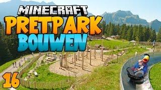 getlinkyoutube.com-Minecraft Pretpark Bouwen #16 - RODELBAAN EN BOS INDELEN