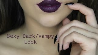 getlinkyoutube.com-How To: Apply Dark Vampy Lipstick