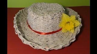 getlinkyoutube.com-Papierowa wiklina - jak zrobić kapelusz