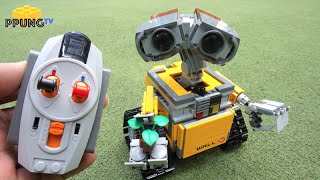 getlinkyoutube.com-LEGO Wall-E 21303 - RC Motorized Wall-E review by 뿡대디