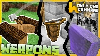 getlinkyoutube.com-Minecraft - Medieval Weapons with Only Two Command Blocks - Catapults, Crossbows & more!