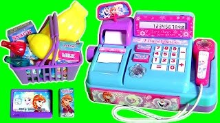 getlinkyoutube.com-Mini Cash Register Toy Disney Frozen Princess Anna & Elsa TOYS SURPRISE Mashems & Fashems Collection