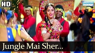 Madhuri Dixit & Rishi Kapoor Song - Jungle Mai Sher Bagon Mai Mor (HD)- Prem Granth - Hit Hindi Song