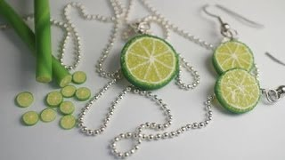 getlinkyoutube.com-Real Time Lime Cane Tutorial, Polymer Clay Miniature Food Tutorial