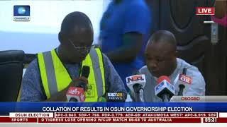 Collation Of Results In Osun Governorship Election Pt.14 |Osun Decides|