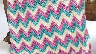 getlinkyoutube.com-How to Crochet An Afghan: Chevron or Ripples in Any Size