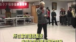 太極拳大師鞠鴻賓談鄭子太極拳肘底看捶腳步角度問題