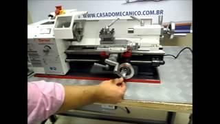 getlinkyoutube.com-Torno mecanico de bancada 180 X 300mm monofásico 220v Toptech é na Casa do Mecânico