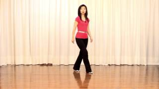 getlinkyoutube.com-Pretty Flower Girl - Line Dance (Dance & Teach in English & 中文)