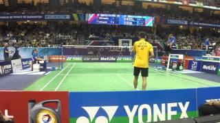 getlinkyoutube.com-Lee Chong Wei vs WANG Zhengming 2015 French Open Set 1