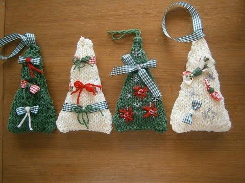 Πλεκτά χριστουγεννιάτικα  δενδράκια με βελόνες !
