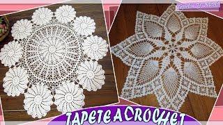 getlinkyoutube.com-Tapete - Carpeta Con Patrones Tejidos a Crochet