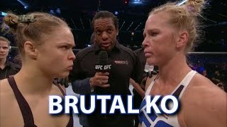 getlinkyoutube.com-Holly Holm Shocks Ronda Rousey via Brutal Head Kick - Post Fight Thoughts and Analysis