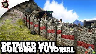 ARK Survival Evolved #65 Detailed Wall Tutorial! + Building Tips