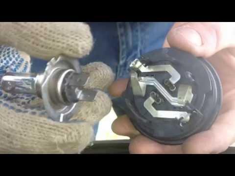 Замена лампы ближнего света на VW GolfPlus!!!