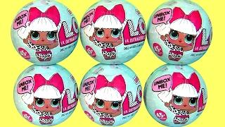 LOL SURPRISE DOLLS L.O.L SURPRISE BALLS Mystery packs of mini dolls Funtoyscollector