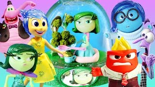 getlinkyoutube.com-INSIDE OUT 6 CHARACTERS GLITTER GLOBES How to Disgust Fear Joy Sadness Anger Bing Bong Disney Toys