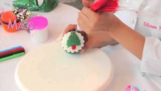 getlinkyoutube.com-Mago Natal - Cupcake Com Arvore de Natal de Glace com Silvana Xavier