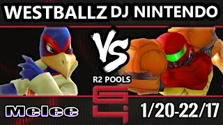 Genesis 4 SSBM - G2 Westballz (Falco) Vs. DJ Nintendo (Samus) Smash Melee R2 Pools