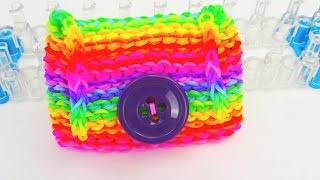 getlinkyoutube.com-Rainbow Loom Geldbörse DIY / Echtes Portemonnaie aus Loom Bands auf dem Loom Board | deutsch