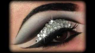 getlinkyoutube.com-Rihanna Diamonds - Glitter & Rhinestones Make Up Tutorial