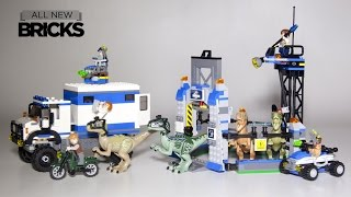getlinkyoutube.com-Lego Jurassic World 75917 Raptor Rampage with 75920 Raptor Escape Speed Build