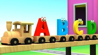getlinkyoutube.com-Learn Alphabet Train Song - 3D Animation Alphabet ABC Train song for children