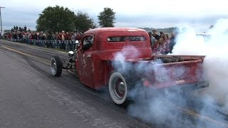 NON STOP Back Road BURNOUTS - Spooky Moon Car Show