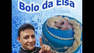 getlinkyoutube.com-Bolo Elsa Frozen - Penteado da Elsa