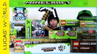 getlinkyoutube.com-LEGO MINECRAFT Collection & Minecraft Surprise Toys Review