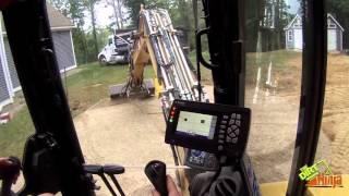 getlinkyoutube.com-Cat 305.5e2 Grading Gravel With Trimble GCS Flex 2D System