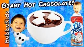getlinkyoutube.com-World's Biggest HOT CHOCOLATE Surprise Egg! TOYS + Make a HUGE Hot Cocoa by HobbyKidsTV