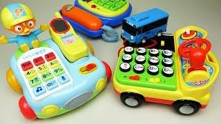 getlinkyoutube.com-Pororo Tayo Phone toys 뽀로로 꼬마버스 타요 전화기 장난감