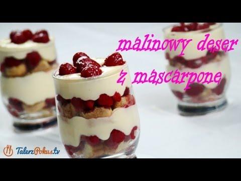 Malinowy deser z mascarpone