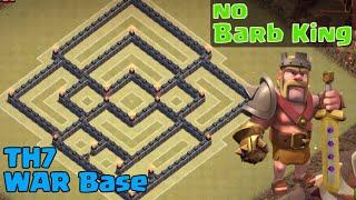 getlinkyoutube.com-Clash of Clans | Best TH7 War Base Without Barbarian King | Anti Dragon + Anti 3 Star