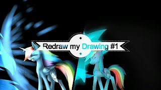 getlinkyoutube.com-Redraw my Drawing - Collab with ManeBlue ( Speedpaint MLP )