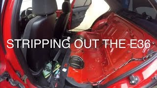 DESTROYING THE E36 | How Not To Strip Out Your Interior Part; 1 | MoreDoorMissileBuild