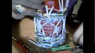 Lampion z wikliny papierowej
