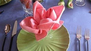 getlinkyoutube.com-Роза из салфетки - как красиво сложить розу из салфетки