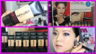 getlinkyoutube.com-NEW Loreal Infallible Pro Matte Foundation | First Impression