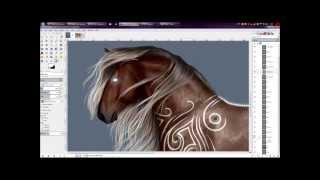 getlinkyoutube.com-SpeedPaint: Fantasy Silver Roan Bay