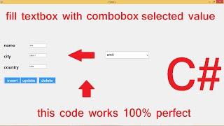 getlinkyoutube.com-Database values in textbox if select Combobox C#