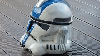 getlinkyoutube.com-Star Wars, making Clone Trooper Helmet, Commander Bly, Pepakura, 66target