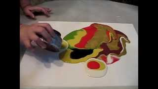 getlinkyoutube.com-Poured  Paint Technique...Sooooo COOL!