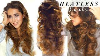 getlinkyoutube.com-2 ★ LAZY HEATLESS CURLS | Overnight Waves HAIRSTYLES | HACKS