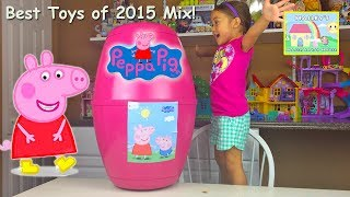 getlinkyoutube.com-PEPPA PIG VIDEOS BEST TOYS OF 2015 Giant Huge Surprise Egg Surprise Toys Kids Playing Toy Opening