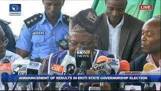 INEC Declares Kayode Fayemi Winner Of Ekiti Governorship Election Pt 1