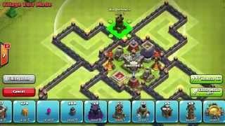 NEW town hall 10 farming base +25 walls New clash of clans update!